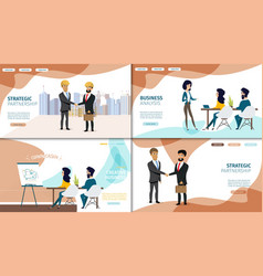 business online services web banners set vector image