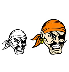 Caribbean danger pirate in cartoon style vector