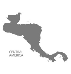 central america map grey silhouette vector image