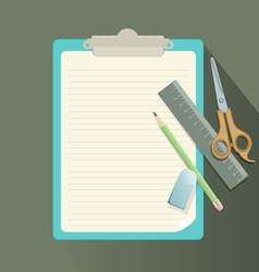 clipboard retro vector image