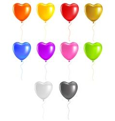 Colored heart balloons vector