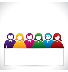 colorful group people stock vector image