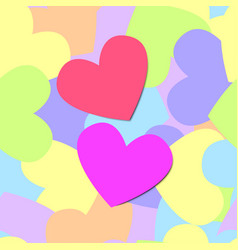colorful seamless pattern heart vector image