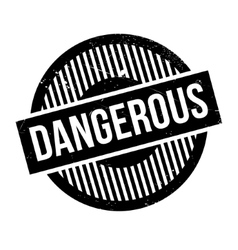 Dangerous rubber stamp vector