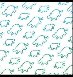 degraded line silhouette hippopotamus safari vector image