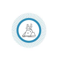 disaster eruption volcano alert safety line icon vector image