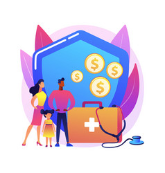 Emergency support fund abstract concept vector