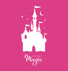 fairy tale silhouette collection vector image