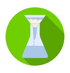 Filtration of water solution in a conical flask vector