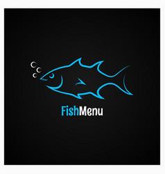 Fish logo design background vector