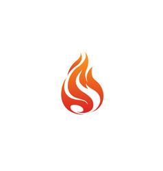 Flaming fire logo vector