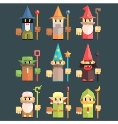 Flash Game Wizard Set vector