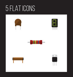 flat icon technology set of receiver resistance vector image