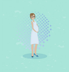 flat of pregnant woman vector image