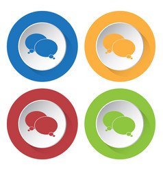 four round color icons two speech bubbles vector image