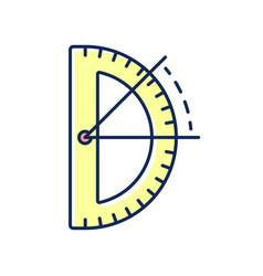 Half circle protractor rgb color icon vector