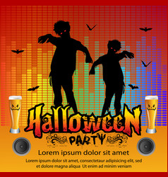 halloween party concept vector image