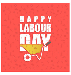 Happy labor day simple typography on a red vector