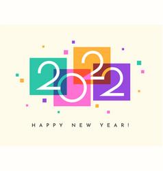 Happy new year 2022 banner calendar card vector