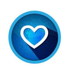 Heart shape isolated blue icon vector