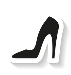 heel lady icon vector image