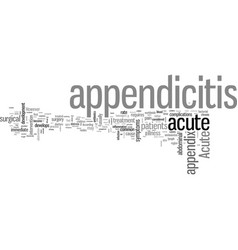 How to detect acute appendicitis vector