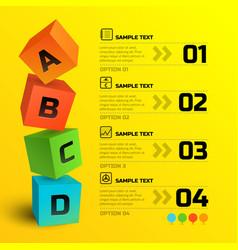 Infographic geometric concept vector