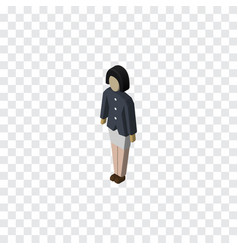 Isolated guy isometric girl element can be vector