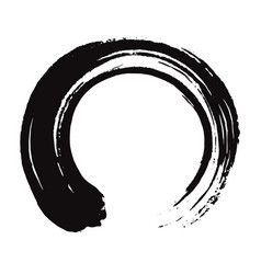 Japanese enso zen black ink art vector