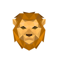 lion face with polygonal geometric style vector image