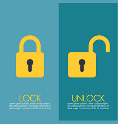 Lock and unlock infographic vector