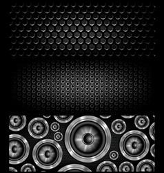 Loudspeker banner for facebook design vector