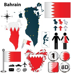 Map of Bahrain vector image