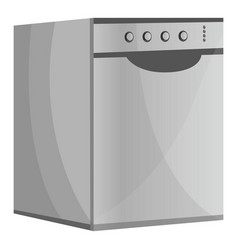 Metal dishwasher icon cartoon style vector