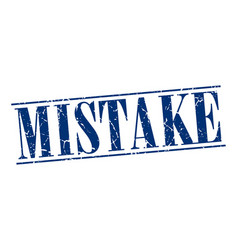 Mistake vector