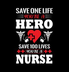 Nurse t shirts design graphic typographic vector