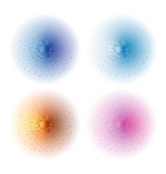 Paint spray effect blue orange pink vector