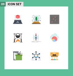 Pictograph set 9 simple flat colors vector