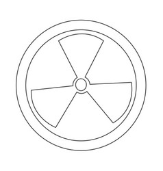 Radioactivity sign icon vector