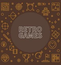 retro games outline frame vector image