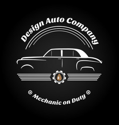 retro vintage car logo vector image
