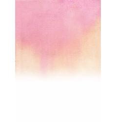 romantic pink gradient background watercolor vector image