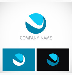 round loop abstract logo vector image