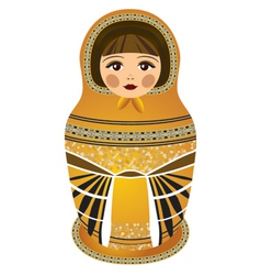 russian dolls yellov vector image
