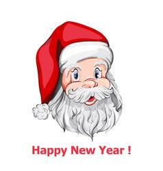 santa claus portrait close up happy new vector image