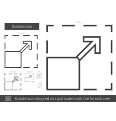 Scalable line icon vector