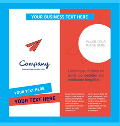 Send button company brochure template busienss vector