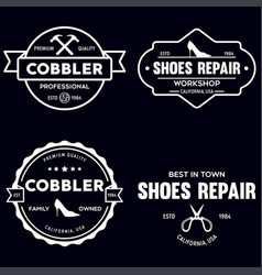 set of vintage logos labels badges vector image