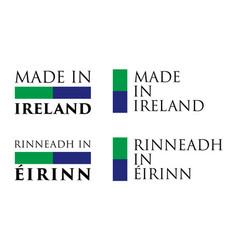 simple made in ireland rinneadh in eirinn irish vector image