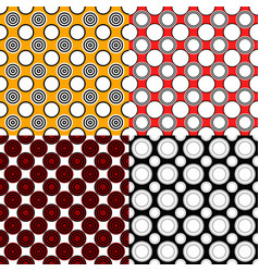 Simple seamless circle pattern background sets vector